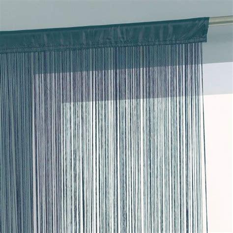 rideau de fil 120 x 240 cm bleu orage rideau voilage