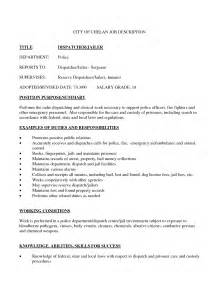911 dispatcher resume objective exles alarm dispatcher resume
