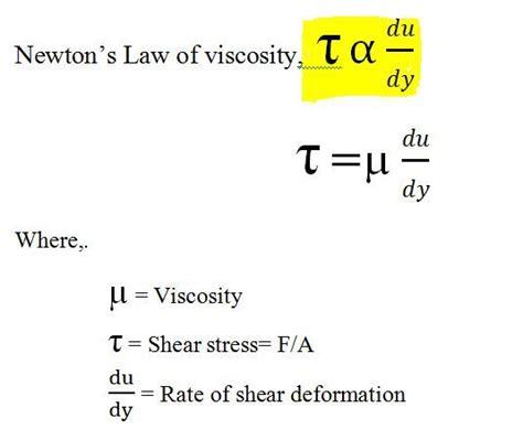 viscosity states newtons law  viscosity