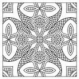 Kaleidoscope Coloring Pages Printable Adults Square Adult Getcolorings Getdrawings Patterns sketch template
