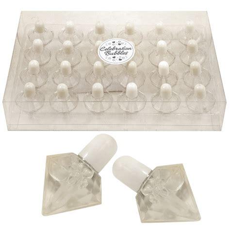 24 X White Topped Diamond Wedding Birthday Bubbles