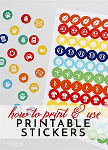 how to print and use printable stickers the homes i have With how to print out sticker labels
