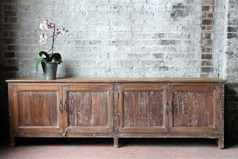 long   reclaimed antique sideboard