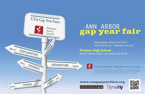 ann arbor gap year fair wednesday january pioneer