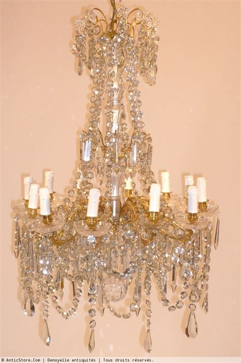 lustre cristal de baccarat circa 1900 xxe si 232 cle n 16868