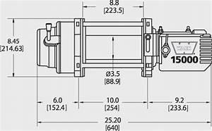Warn M15000  Warn M15000 Self Recovery Electric Winch