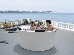 Baignoire 2 Places Balneo : baignoire baln o ronde iowa 2 places 183x183x83cm 51352 ~ Edinachiropracticcenter.com Idées de Décoration