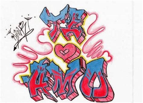 Graffiti Ximena : Imágenes De Graffitis De Amor A Lápiz
