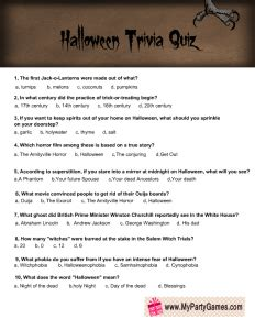 printable halloween trivia quiz  adults