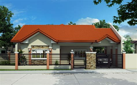 bungalow house phd  pinoy house designs
