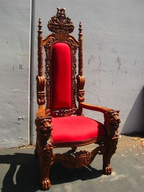King Edwards Chair Carvings by Carved Antique Mahogany King S Throne Chair Of