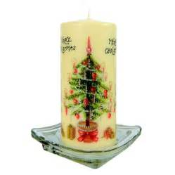 merry christmas pillar candle decorative christmas candles crusader gifts