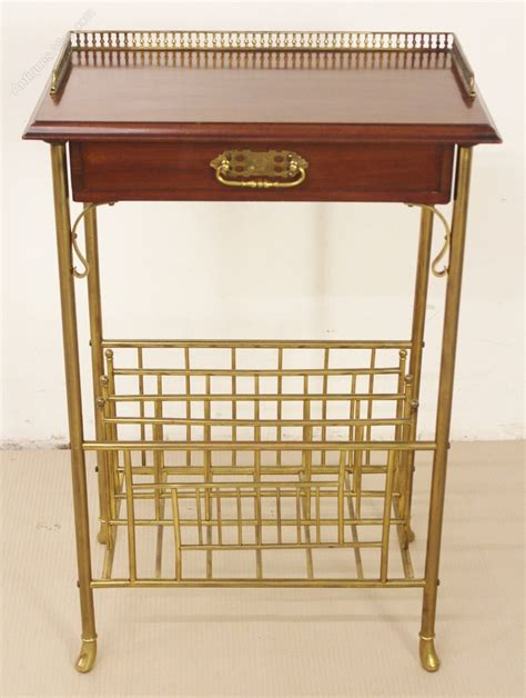 Arrange The Different Parts Of A Résumé In The Correct Order by Brass And Mahogany Magazine Rack Antiques Atlas