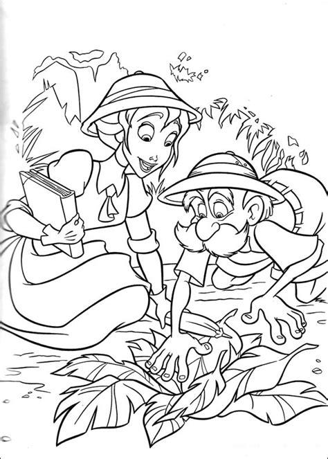 Dibujos de Tarzan y Jane para colorear, pintar e imprimir