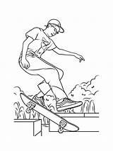 Skateboard Coloring Pages Printable Mycoloring sketch template