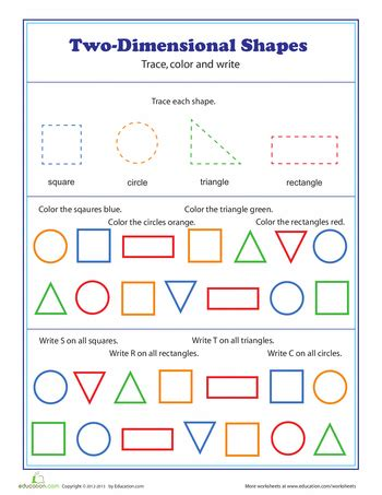 two dimensional shapes those who can teach shapes