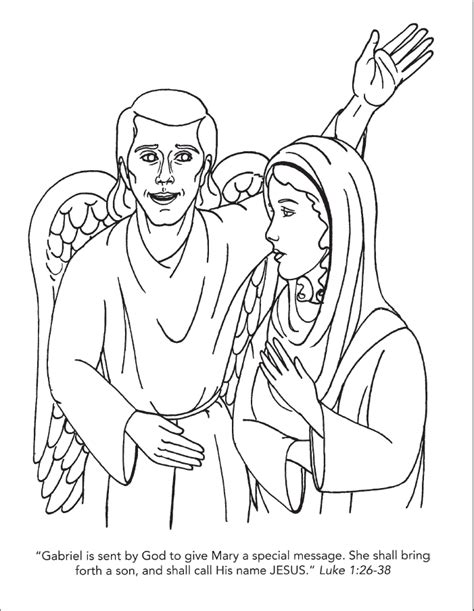 angel  mary coloring page coloring home
