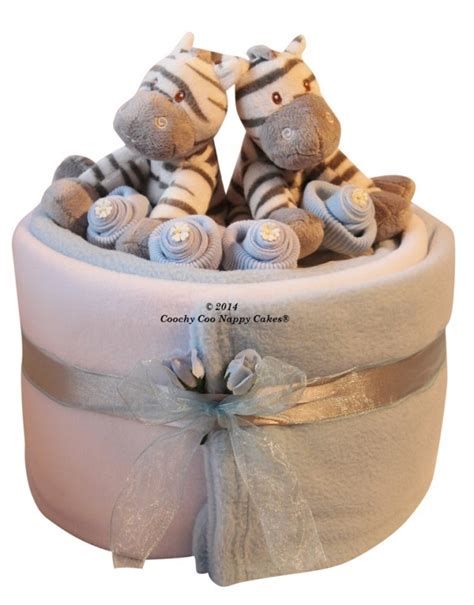 twin baby boy gift basket archives coochycoo nappy cakes
