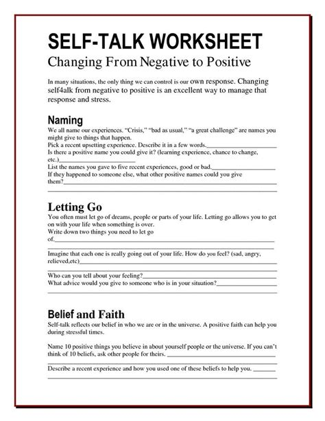 worry bag  talk worksheet  healing path