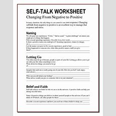 The Worry Bag Selftalk Worksheet  The Healing Path With Children  Self Talk Pinterest