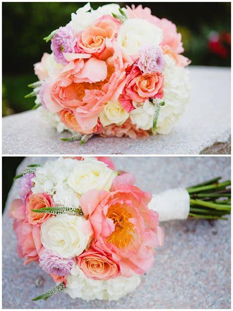 Coral Peony Wedding Bouquet