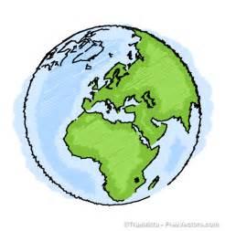 Earth Drawing Vector