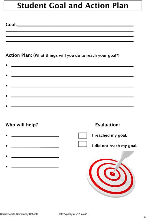 student goal setting template smart goal template for students www imgkid the image kid has it