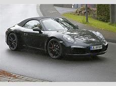 Porsche 911 GTS Cabriolet Caught on the Nurburgring