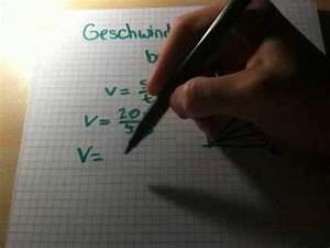 Vektoren Geschwindigkeit Berechnen : geschwindigkeit berechnen physik verstehen youtube ~ Themetempest.com Abrechnung