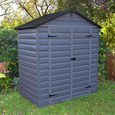 billyoh skylight plastic garden shed anthracite grey 6x4