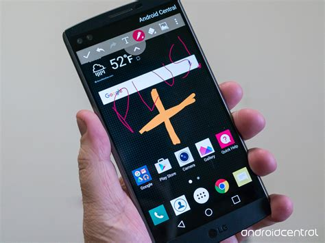 how to screenshot on an lg phone how to take a screenshot on the lg v10 android central