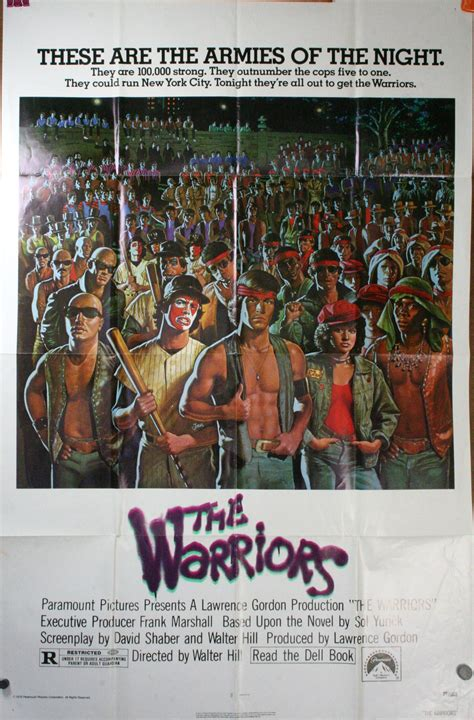 warriors original urban gang  poster