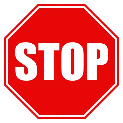 stop sign clipart png clipground