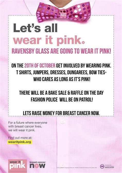 Wear it pink 20th October 2017!   Ravensby Glass   Dundee
