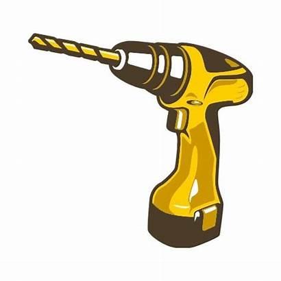 Drill Power Clip Construction Tools Thatshirt Colors