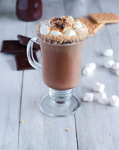 smores latte   fall coffee drink  toasted