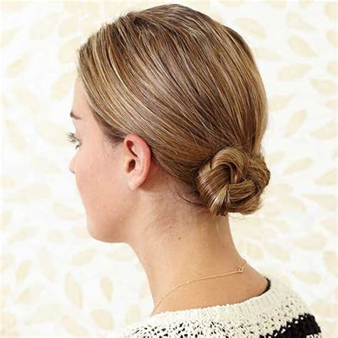 Our Favorite 5 Minute Hairstyles Braided chignon Diy