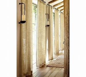 belgian linen drape pottery barn the feel i thought With burlap drapes pottery barn
