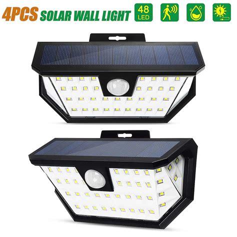 48 led solar lights outdoor motion sensor waterproof wall