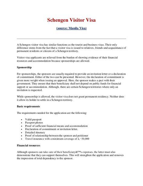 covering letter  tourist visa schengen   part