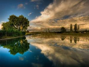 Background, Lake, Sky, Reflecting, Hd, Wallpaper, 15903, Wallpapers13, Com