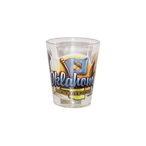 bulk buys oklahoma shot glass 2 25h x 2 inch w elements