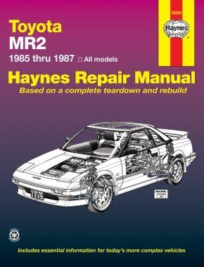 old cars and repair manuals free 1985 toyota mr2 electronic valve timing toyota mr2 1985 1987 car repair manuals haynes manuals