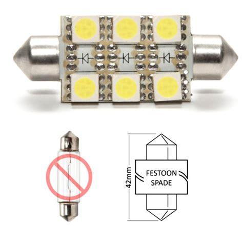 marine 6 led festoon bulb replacement 42mm warm white