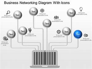 Fh Business Networking Diagram With Icons Powerpoint