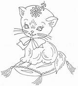 Embroidery Hand Patterns Pattern Coloring Cat Flickr Pages Juvenile Jamboree Quilt Designs Stitch Cats Kitten Outline Cross Sew Recent Lay sketch template