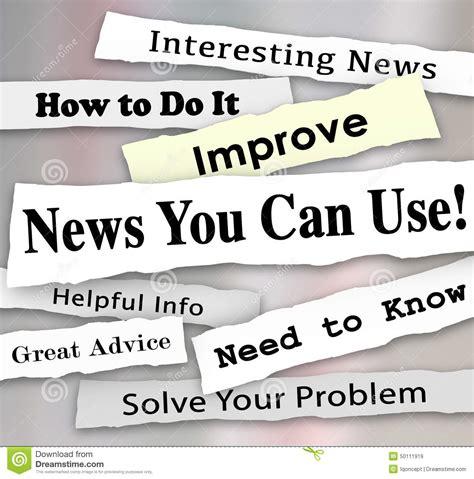 Good News Daily Newspaper Headline Royaltyfree Stock