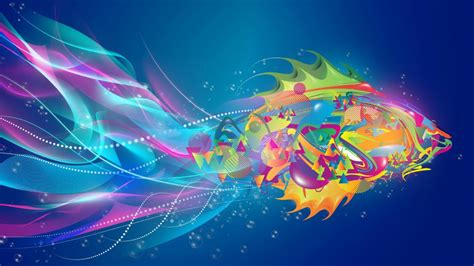 Hd Abstract Picture by 1366x768 Abstract Fish Colorful Desktop Pc And Mac Wallpaper