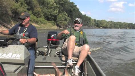 Asian Carp Attack Boat by Flying Silver Carp On Wabash River In Indiana