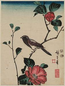 Utagawa Hiroshige: Bird on Camellia Branch - Museum of ...